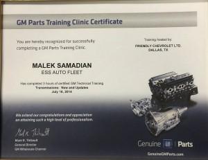 GM Certificate