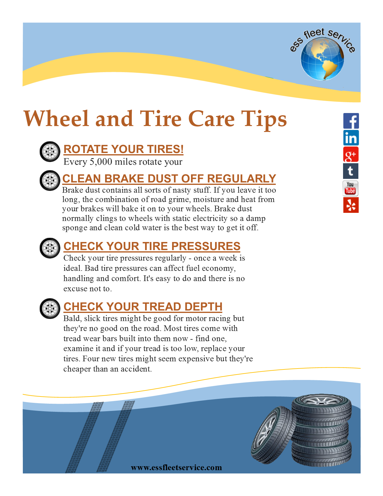 Wheel and Tire Care Tips